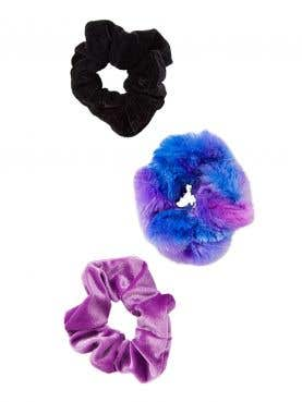 3-pack Faux Fur 7 Velvet Twister Scrunchie Set