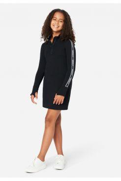 Mock Zip Dress