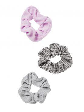 3 pack Multi Twister Scrunchies Set