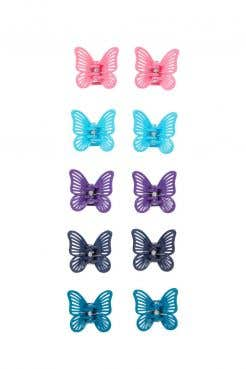 10 Pack Butterfly Mini Hair Claw
