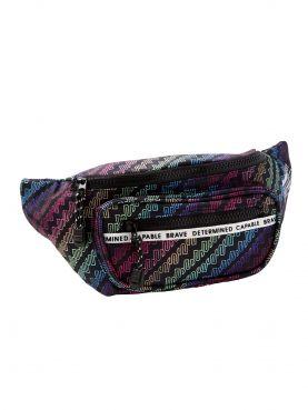 J Sport Rainbow Nylon Belt Bag