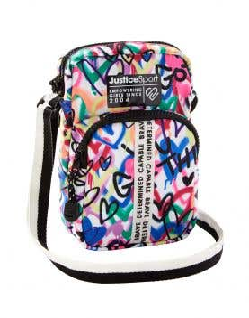 J Sport Graffiti Nylon Crossbody Phone Bag