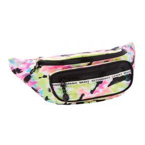 Sporty Tue Dye Nylon Belt Bag