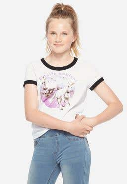 Totally Magical Ringer Graphic Tee