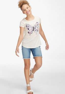 Floral Butterfly Tee