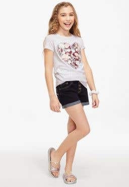 Floral Heart Graphic Tee