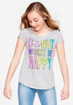 Donut Worry Be Happy Scented Graphic Tee