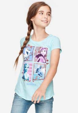 Disney Frozen Elsa & Anna Ruffle Hem Top