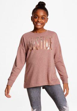 Logo Lace Up Back Sweatshirt