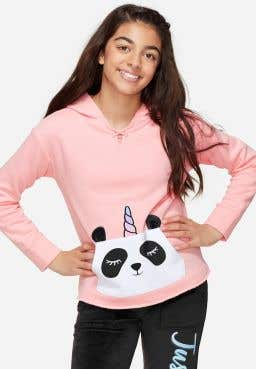 Lace Up Neck Critter Pocket Hoodie