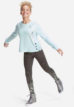 Velour Lace Up Side Sweatshirt