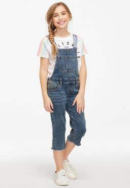 Flip Strap Overall Jeans