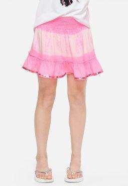 Tie Dye Ruffle Hem Skirt