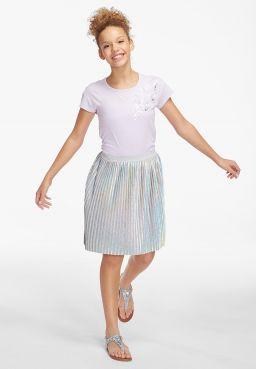 Foil Pleated Skirt