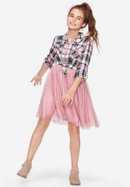 Plaid Tutu Two For One Dress