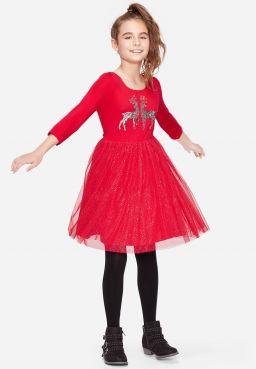 Glitter Reindeer Tutu Dress