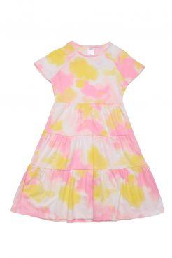 Tie Dye Tiered Dress