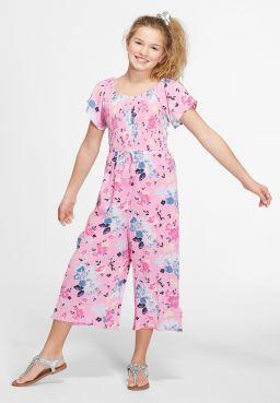 Smocked Floral Jumpsuit