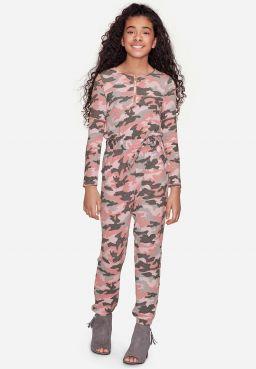 Camo Snuggly Soft Jumpsuit