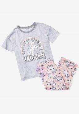 Wake Me Up When I'm A Unicorn Capri Pajama Set