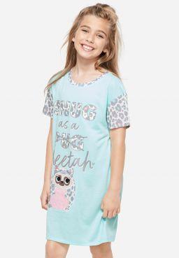 Snug As A Cheetah Patch Nightgown