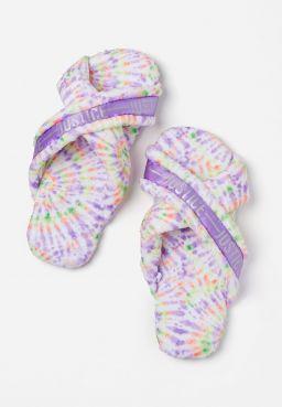Tie Dye Criss Cross Slippers