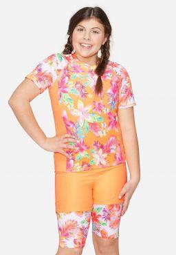 Tropical Floral Short Sleeve Rashguard