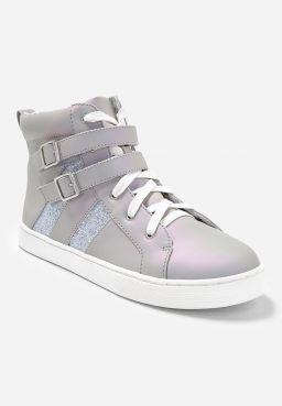 Double Buckle High Top Sneaker