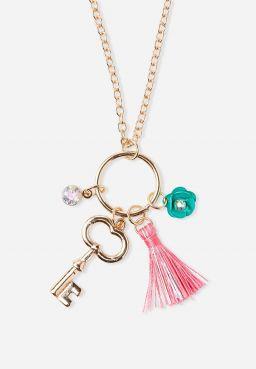 Key Cluster Charm Pendant Necklace
