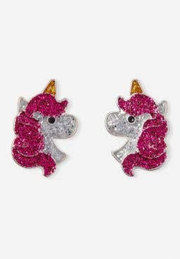 Sparkle Unicorn Stud Earrings
