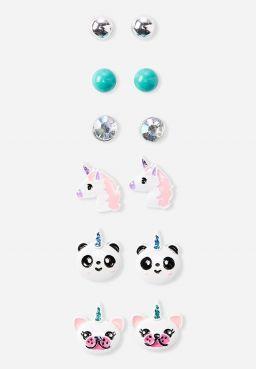 Unicorn Stud Earrings - 6 Pack