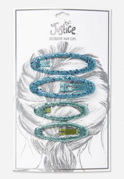 Glitter Hair Clip - Set of 4