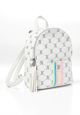 Justice Signature Rainbow White Mini Backpack - HOLD Spring 1