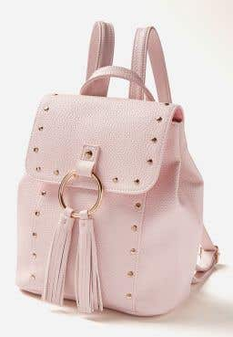 Stud & Tassel Mini Backpack