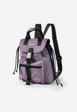 Double Handle Glitter Mini Backpack