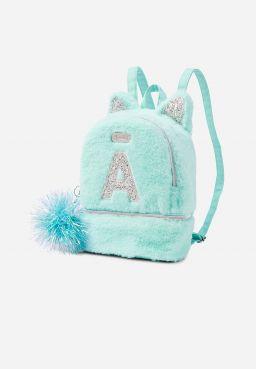 Glitter Kitty Initial Mini Backpack