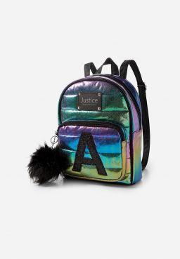 Oil Slick Initial Mini Backpack