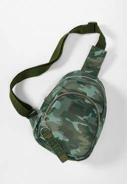 Camo Crossbody Mini Backpack