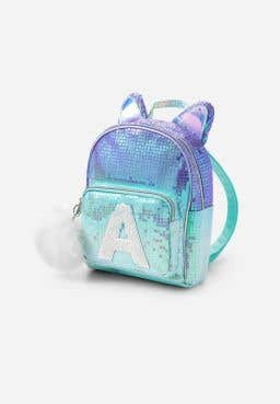 Ombre Cat Initial Mini Backpack