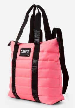 Dance Quilted Backpack Tote