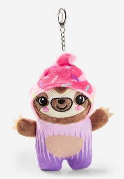 Sloth Undercover Cupcake Keychain