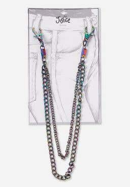 Iridescent Metal Belt Chain