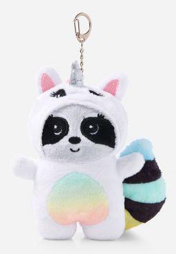 Raccoon Under Cover Plush Keychain