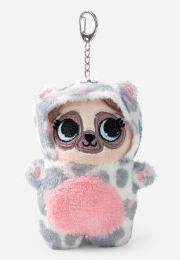 Pug Under Cover Plush Keychain