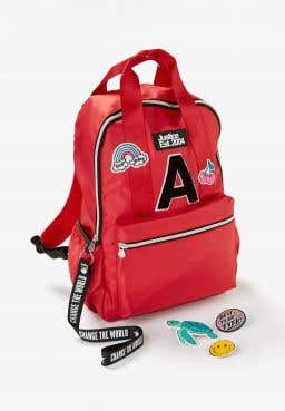 Initial Red Patch Backpack