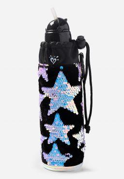 Star Velvet & Flip Sequin Sleeved Water Bottle