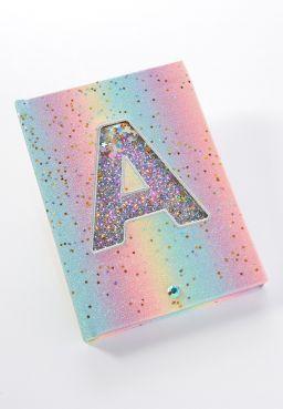 Rainbow Initial Light Up Journal