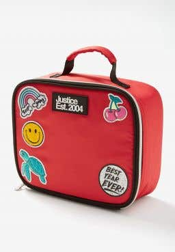 Red Patch Lunch Tote