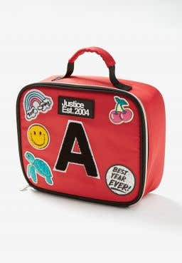 Red Patch Initial Lunch Tote