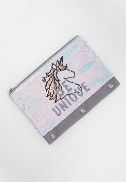 Unique Unicorn Flip Sequin Pencil Case